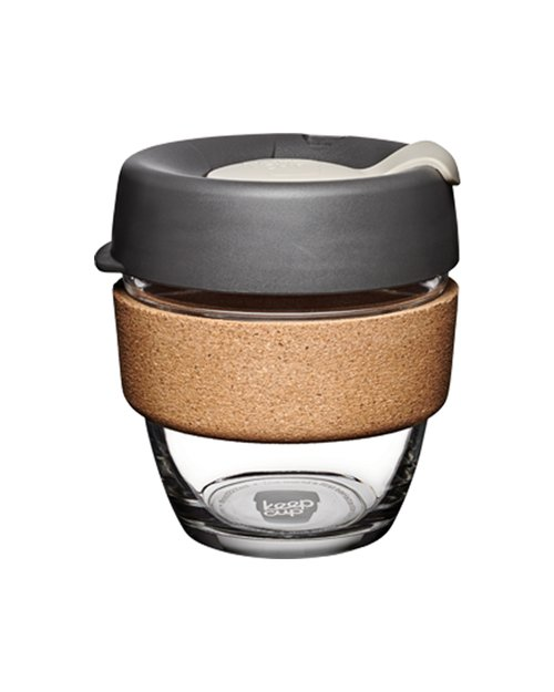 8 oz Brew Cork Press Keep Cup - Charcoal