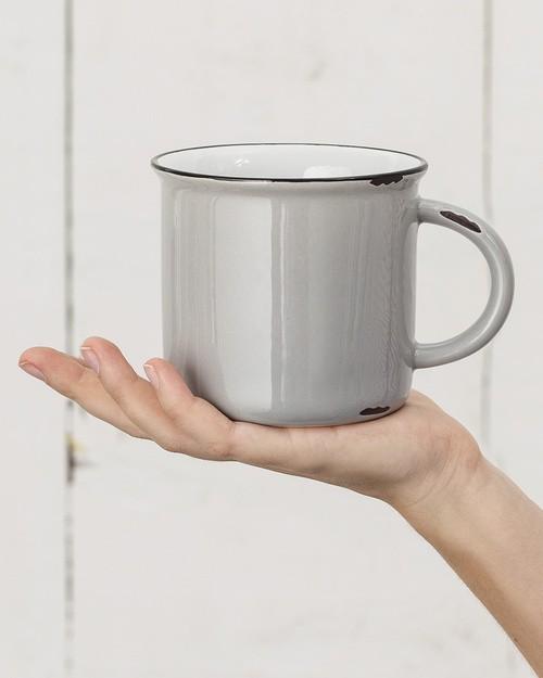 Tinware Mug in Grey