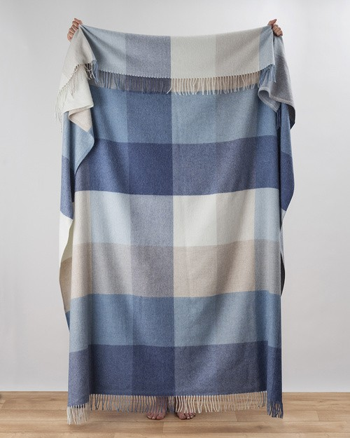 Capri Denim Cashmere Throw