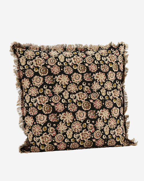 Fringed Printed Cushion