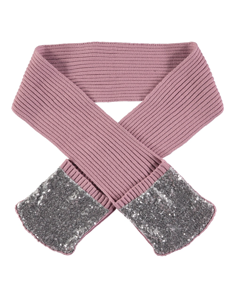 Angel Face Scarf Mitten Combo With Sequined Pockets Unisex