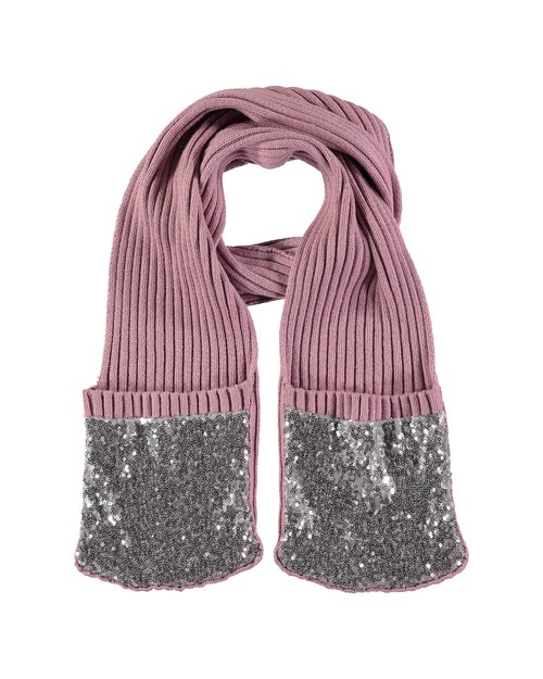 Angel Face Scarf/Mitten Combo with Sequined Pockets