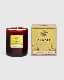 Lemongrass & Cedarwood Scented Soy Candle