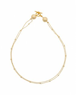 Double Ball Chain Necklace