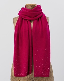 Crystal Rhinestone Wrap in Fuchsia