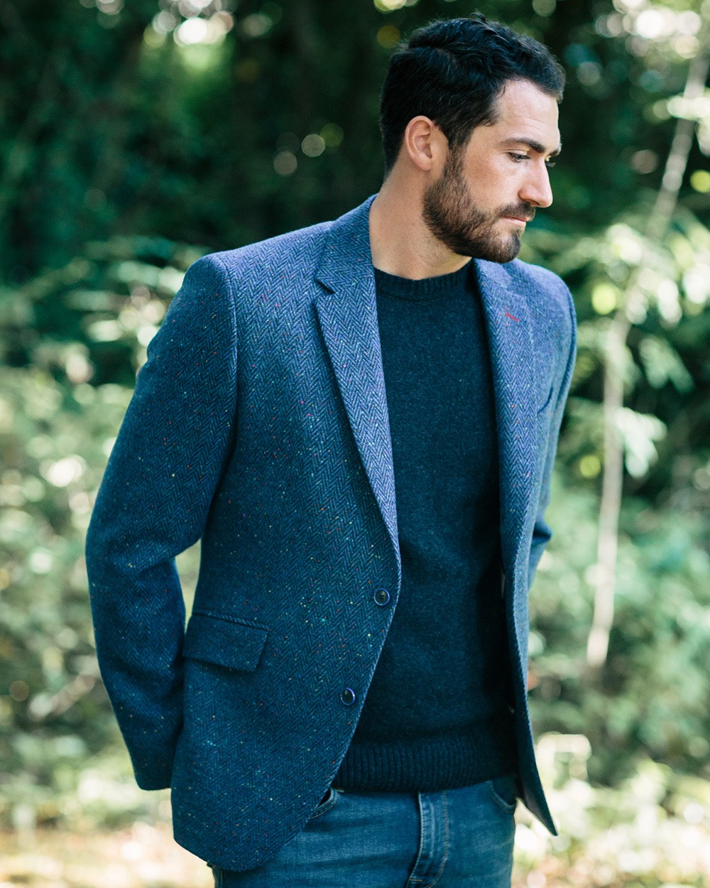 Tweed Dawson Jacket - Blue