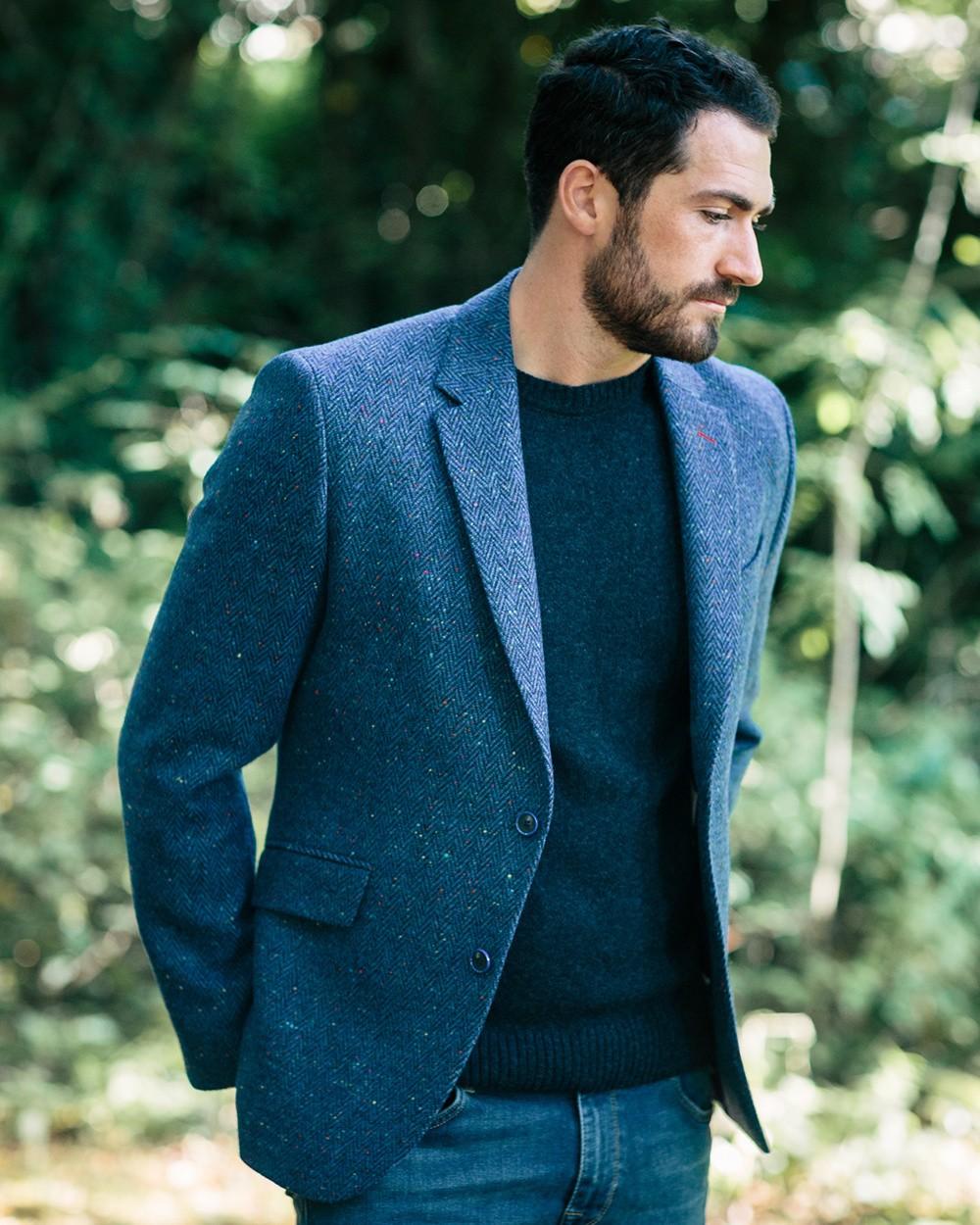 Tweed Dawson Jacket in Blue