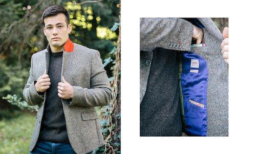 Tweed Dawson Jacket - Tan/Grey