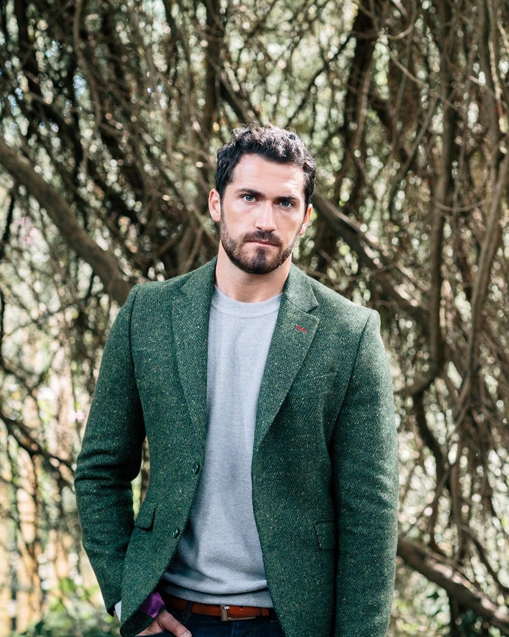 Tweed Dawson Jacket in Green
