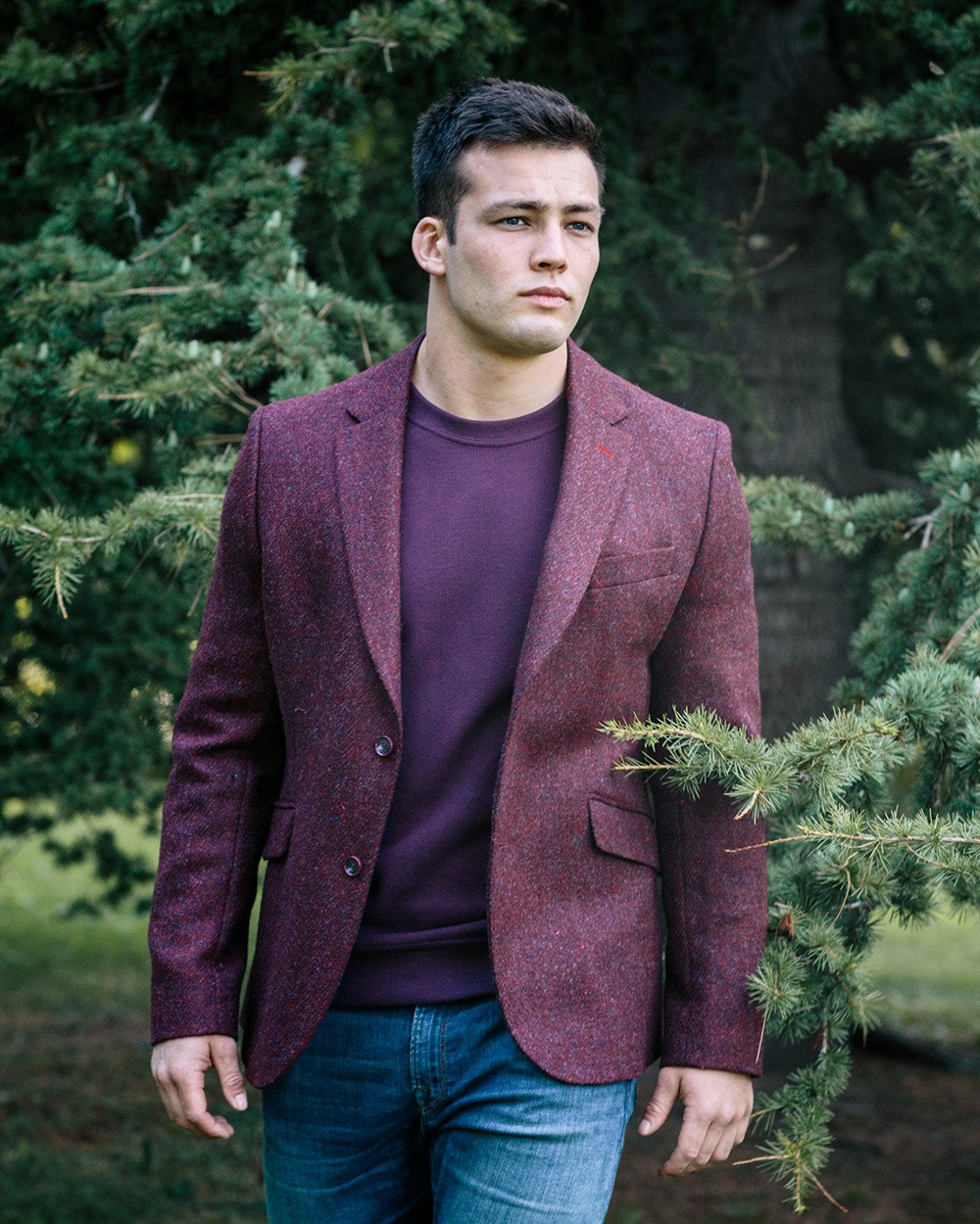 Tweed Dawson Jacket - Wine