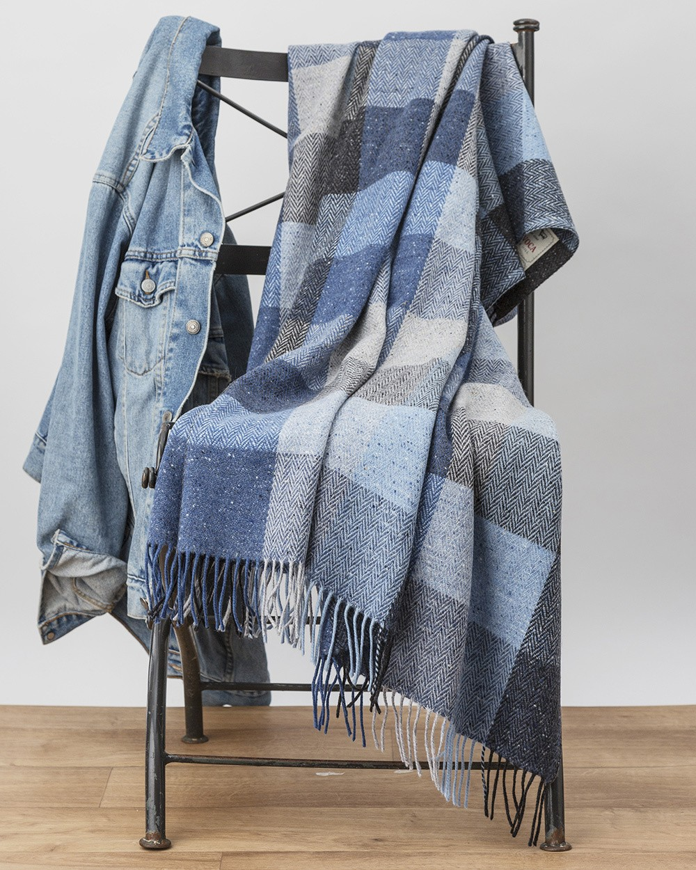 Denim Donegal Throw