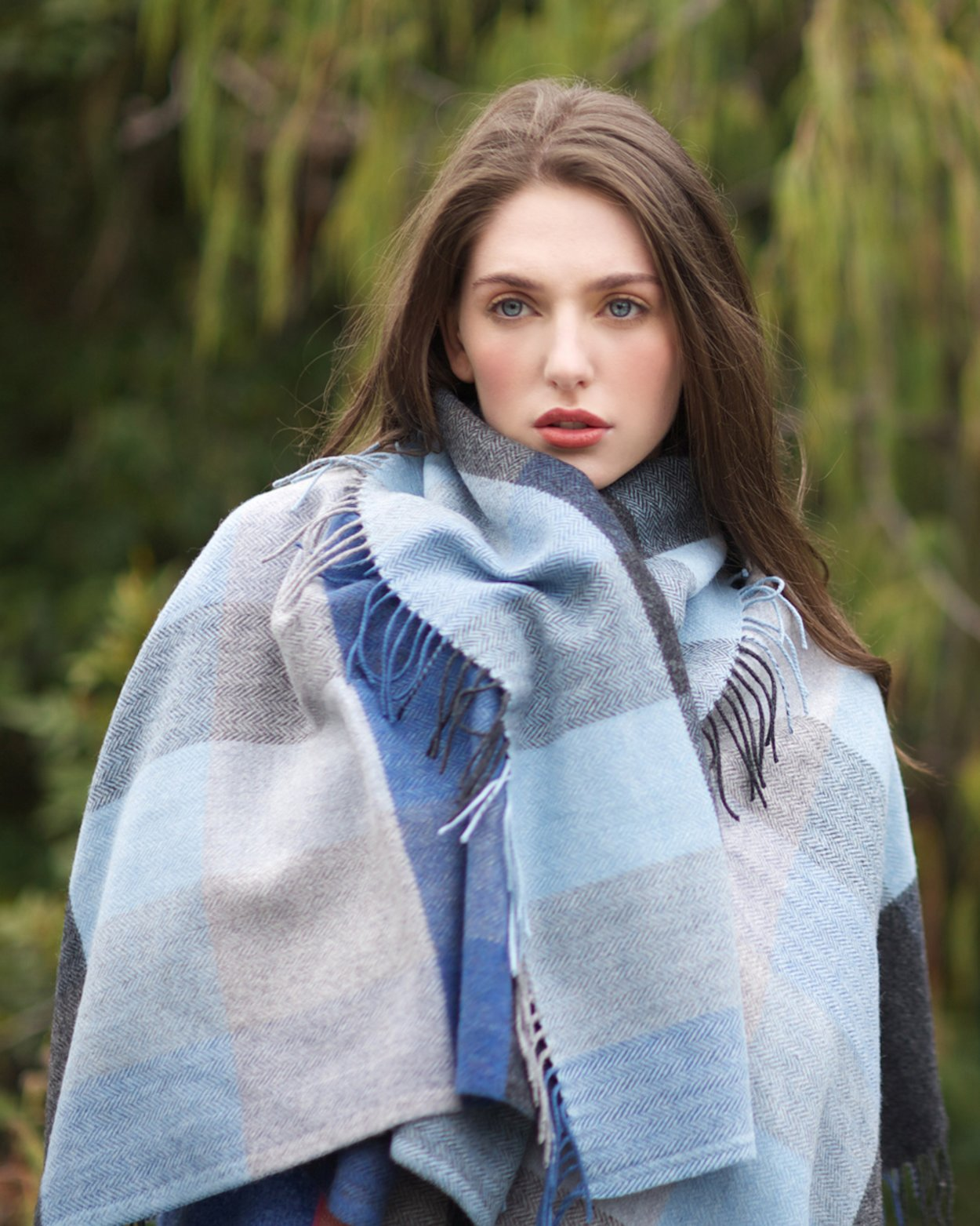Denim Lambswool Throw