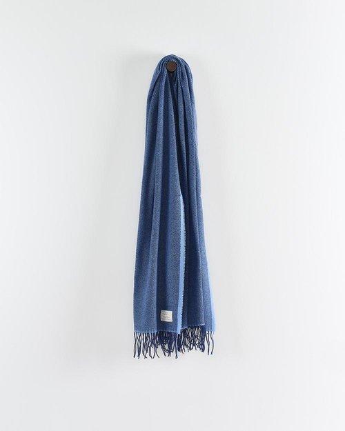 Cashmere Wool Sandymount Scarf in Navy