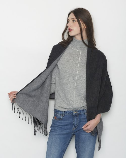 Cashmere Blend Double Sided Pocket Wrap