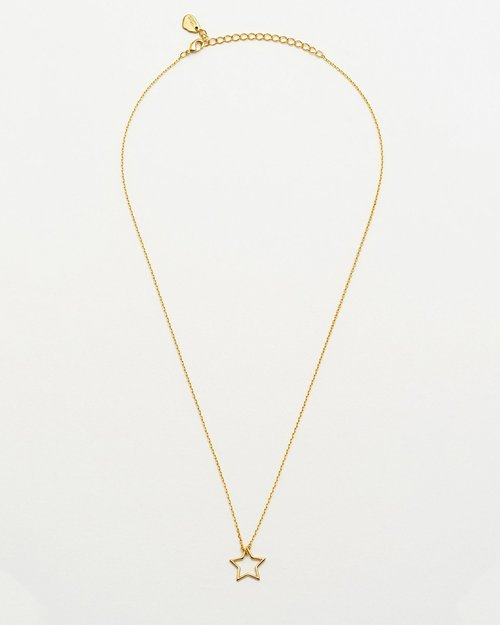 Gold Plated Open Star Necklace
