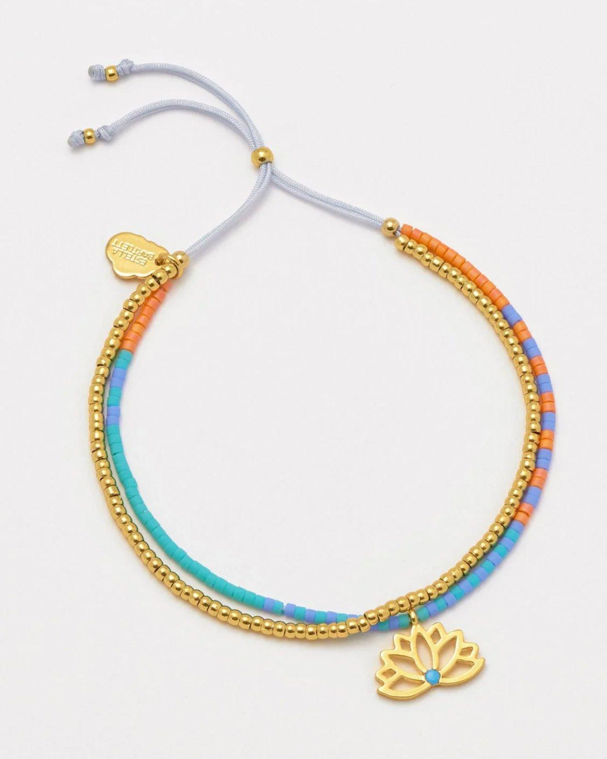 Gold Plated Lotus Phoebe Bracelet