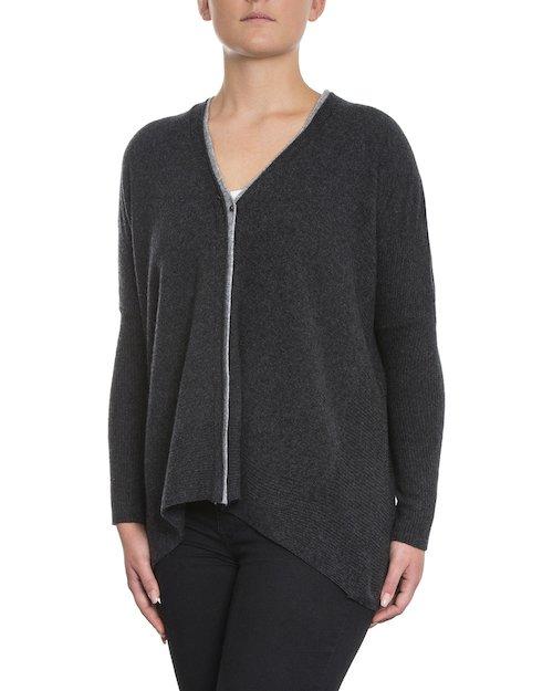 Ellen Cardigan in Charcoal Grey