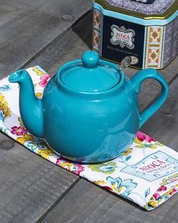 Farmhouse Teapot In Aqua