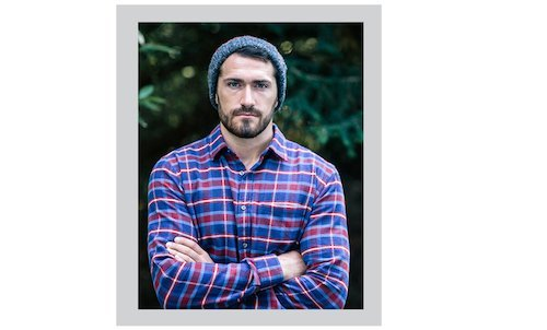 Brushed Cotton Flannel Shirt - Blue/Red