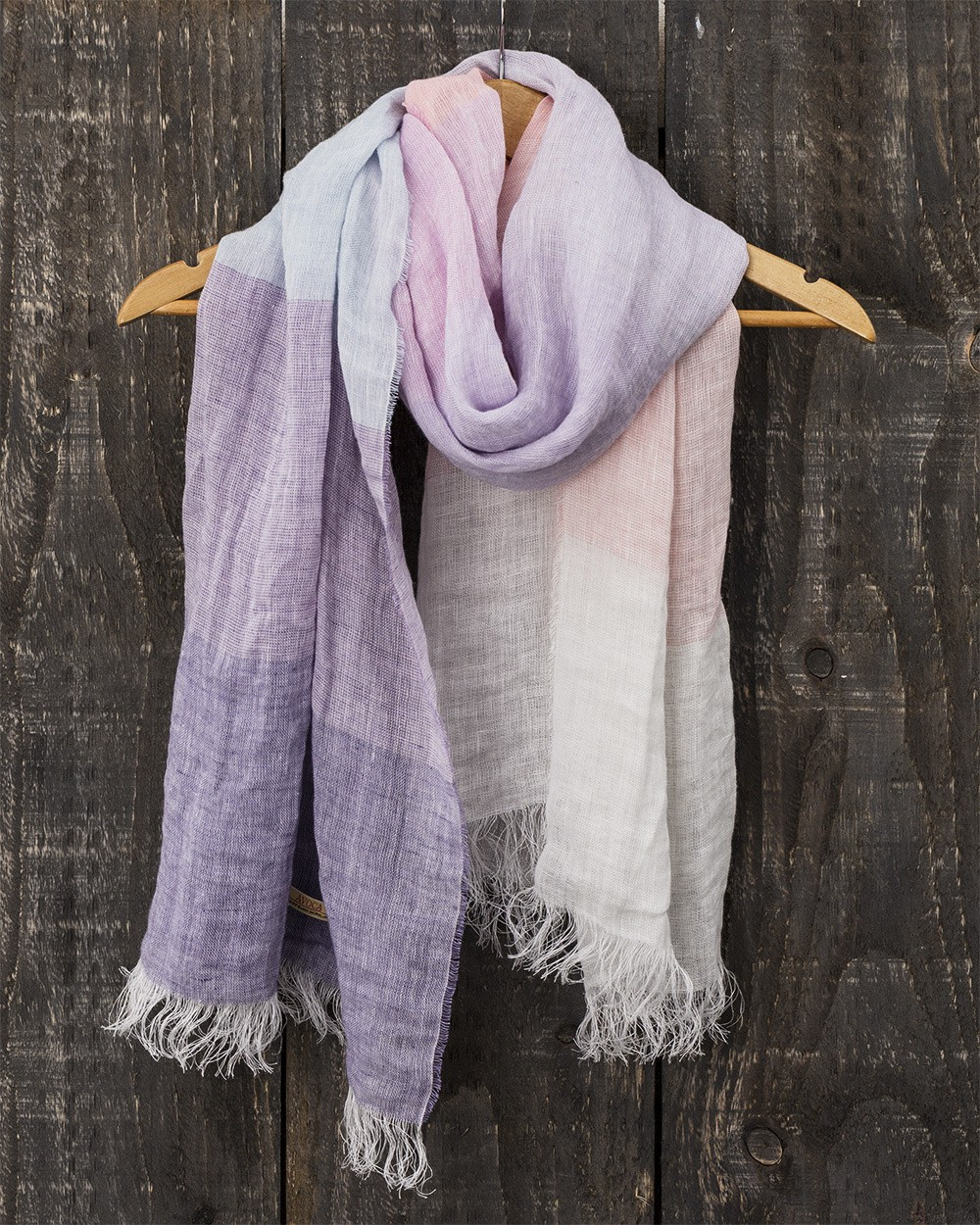 Florence Linen Scarf in Lilac