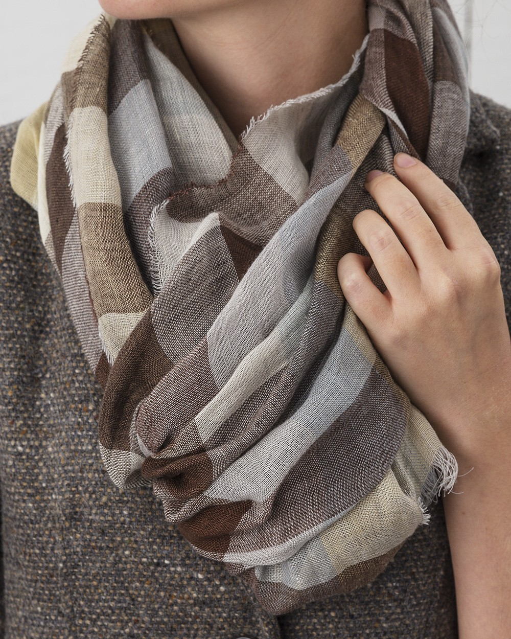 Florence Linen Scarf in Natural