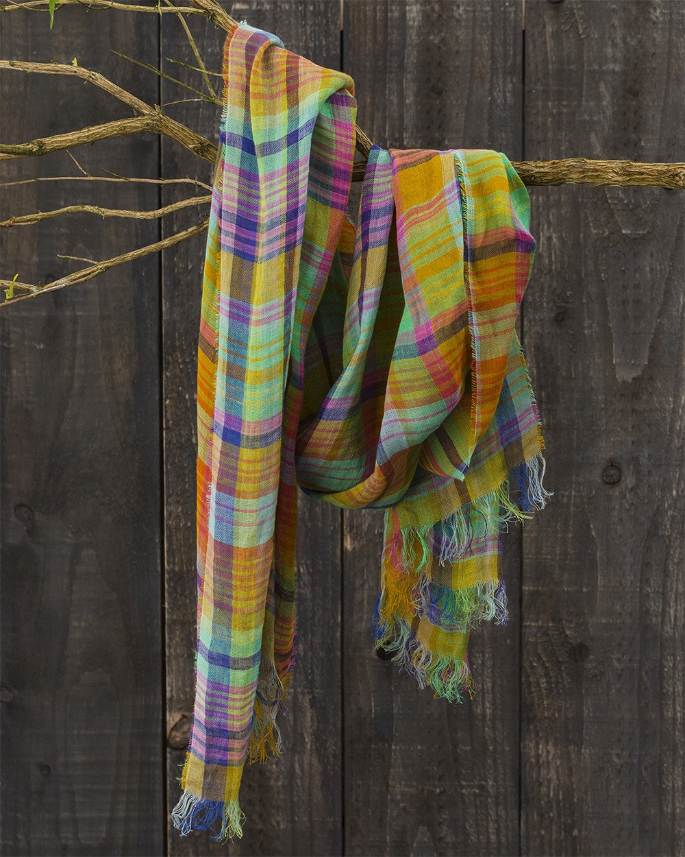 Florence Linen Scarf in Picnic Prince