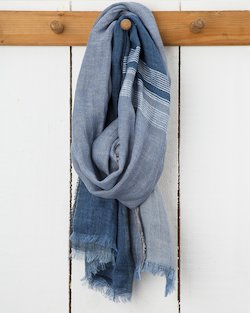 Desert Block Florence Scarf in Denim