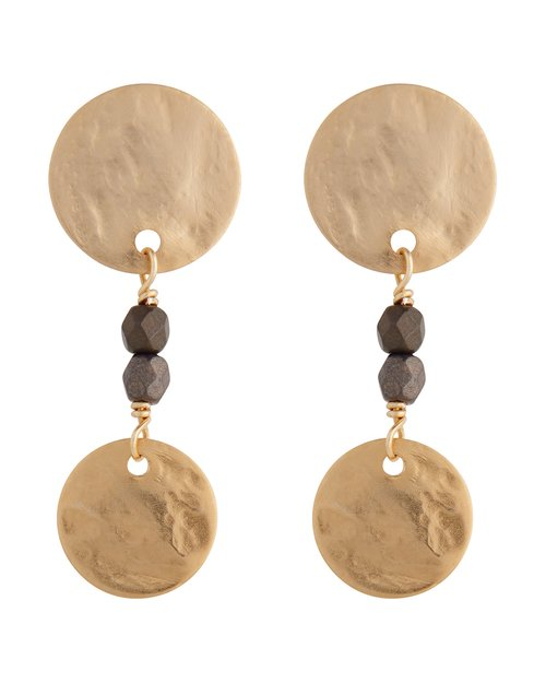 Mini Disc Drop Earrings