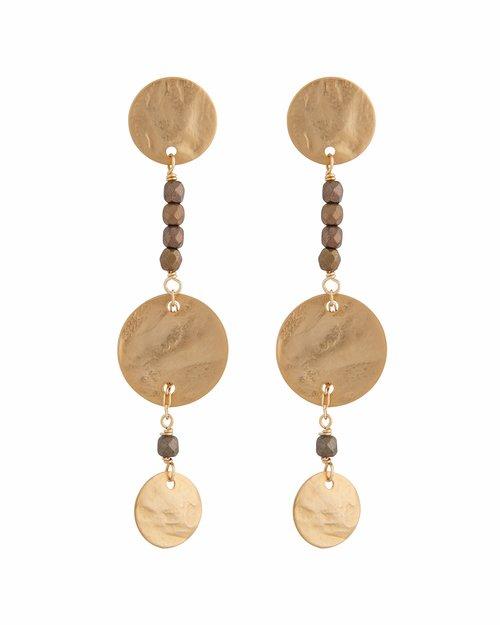 Double Disc Line Earrings