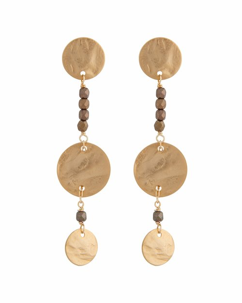 Double Disc Line Earrings