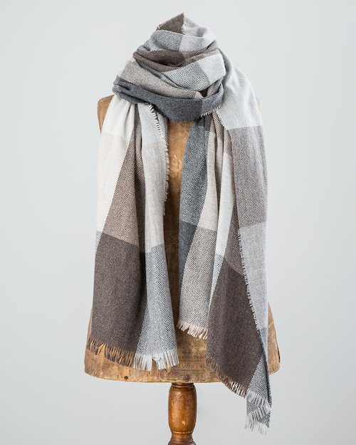 Grey and Neutral Gracie Stole
