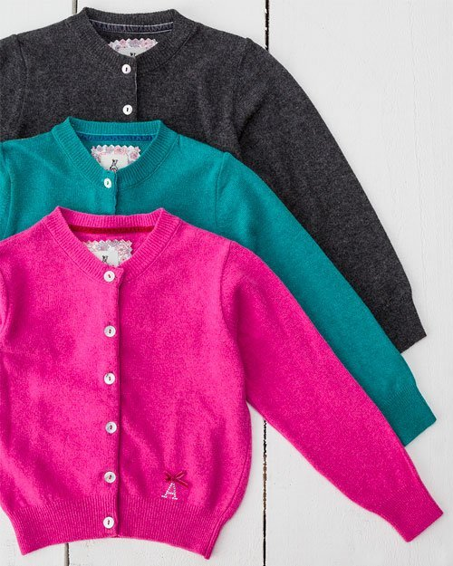 Cashmere Blend Girl's Cardigan