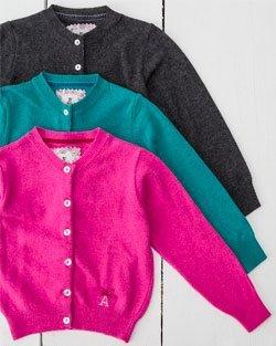 Cashmere Blend Girl's Cardigan