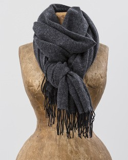 Sandymount Scarf in Black and Grey