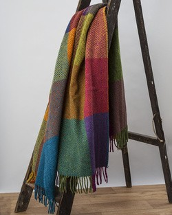 Circus Heavy Herringbone Throw