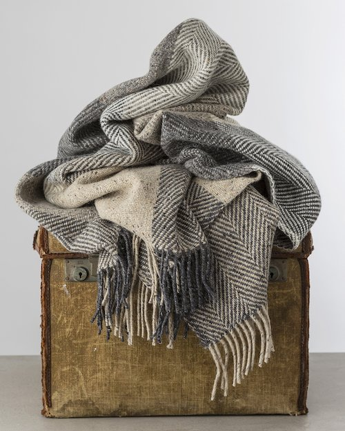 Wall Heavy Herringbone Throw