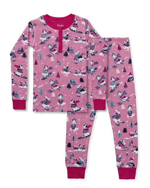 Hatley Pink Rabbit Pyjamas