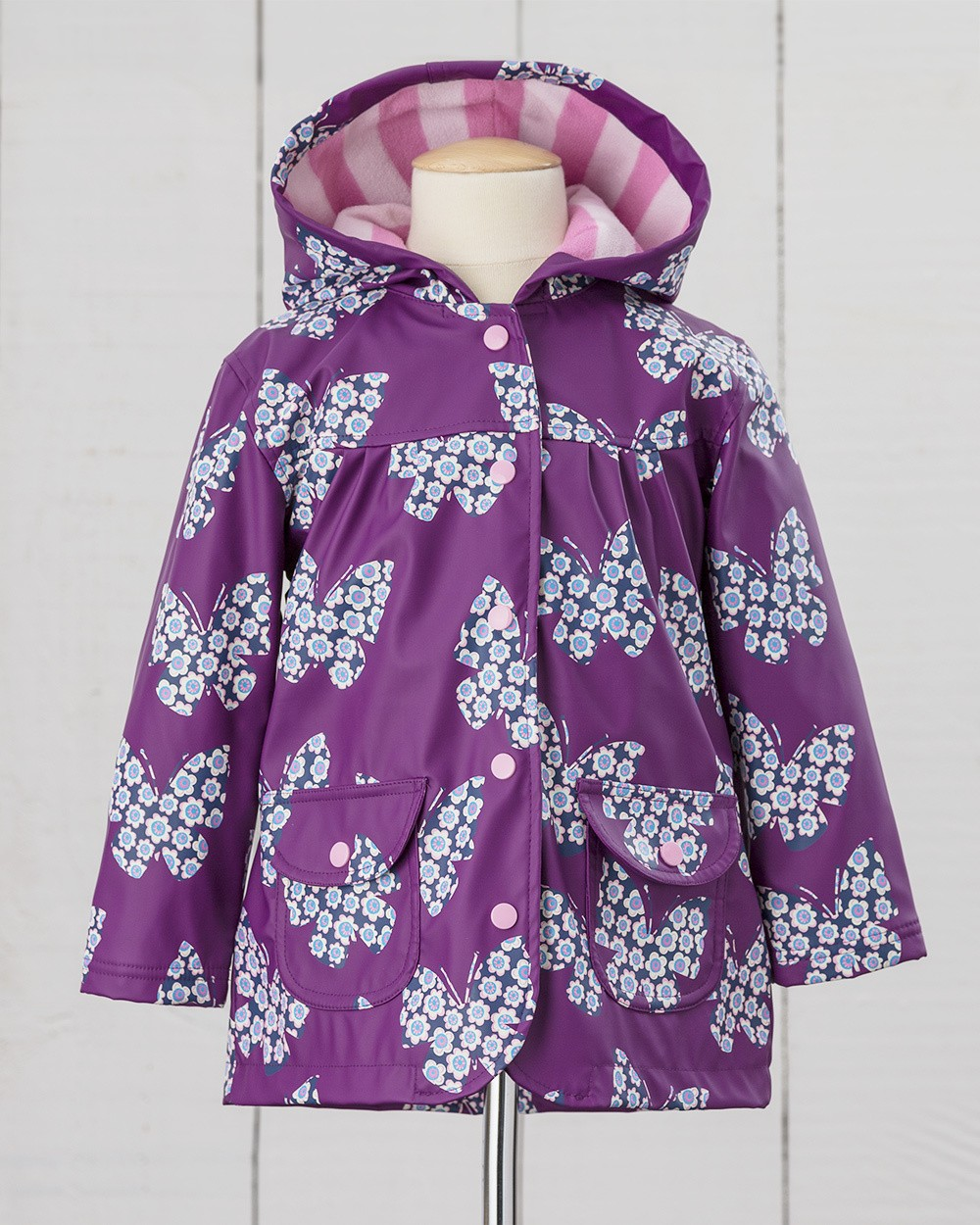 Hatley Purple Butterfly Raincoat