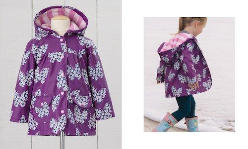 Hatley Purple Butterfly Raincoat