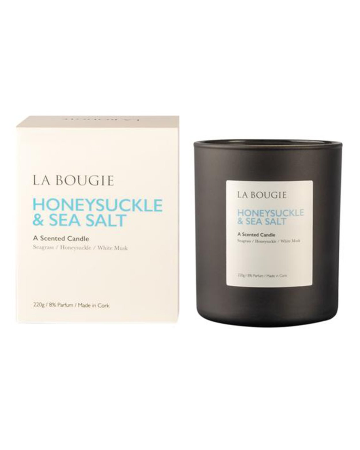 Honeysuckle & Sea Salt Scented Candle