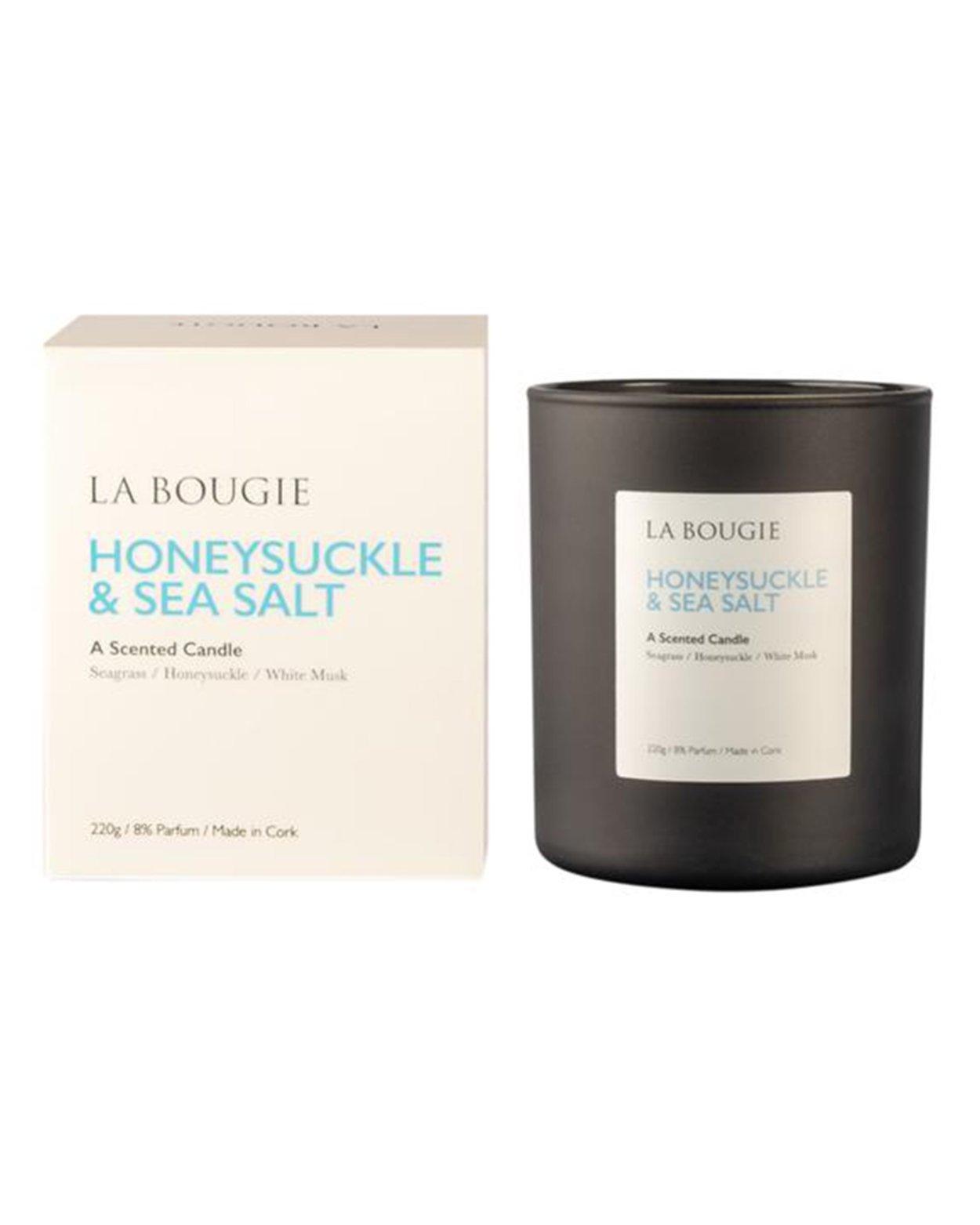 Honeysuckle & Sea Salt Scented Candle