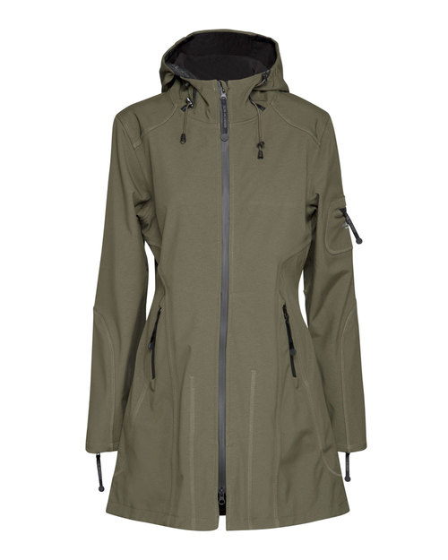 Ilse Jacobsen Raincoat in Army Black