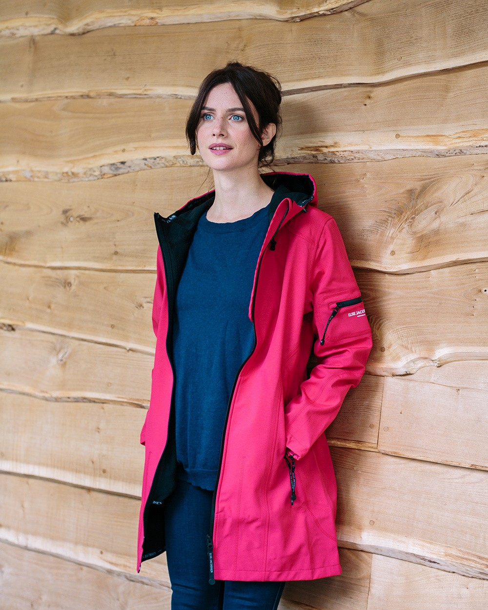 ilse jacobsen raincoat in sweet rose womens outerwear avoca. Black Bedroom Furniture Sets. Home Design Ideas