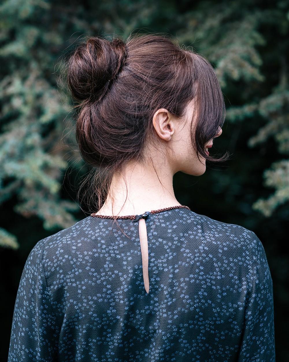 Iris Top with Embellished Neckline