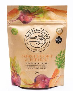 Joe's Farm Crisps Gluten Free Carrot Parsnip & Beet Veg Crisps