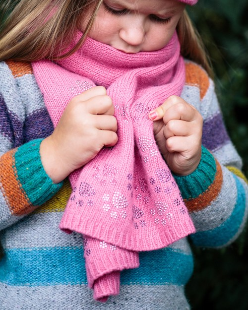 Kids Scarf with Puppy Paw Detail
