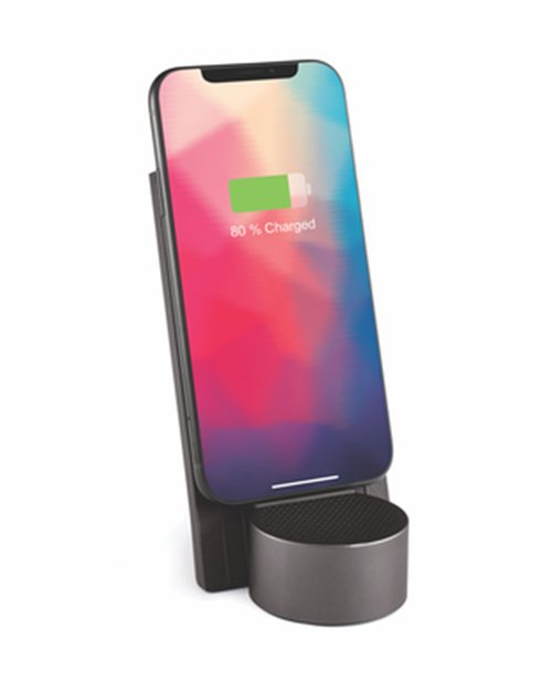 City Energy Wireless Charging Station & Bluetooth Speaker