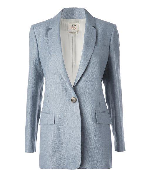 Linen Boyfriend Jacket