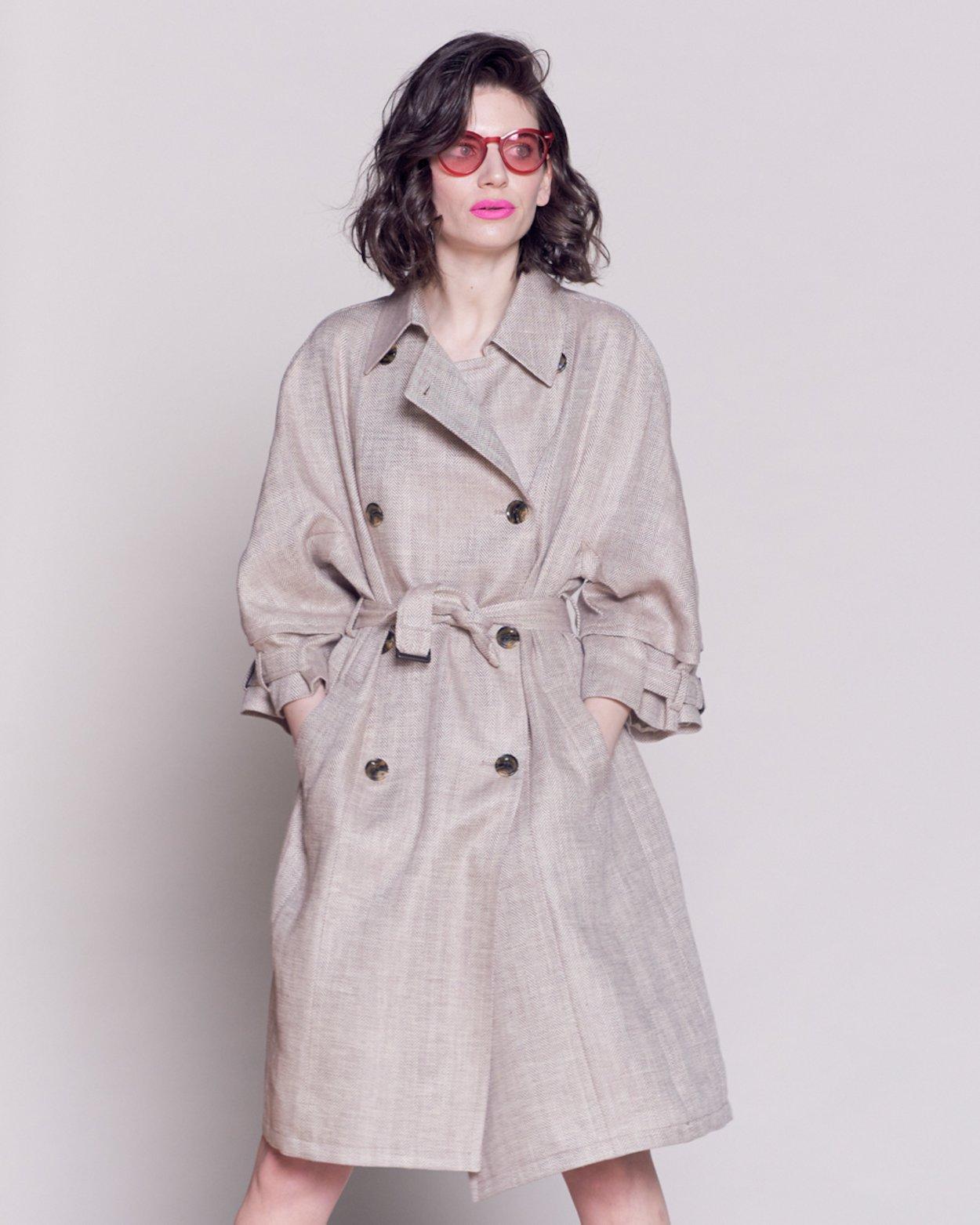 Linen Trench Coat