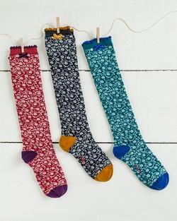 Little Flower Knee Socks